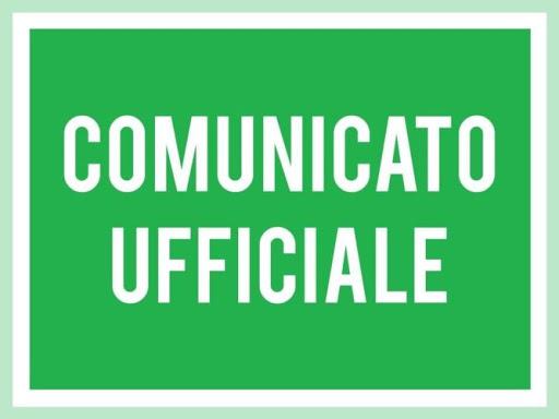 Comunicato Ufficiale N° 31 del 12/04/2020
