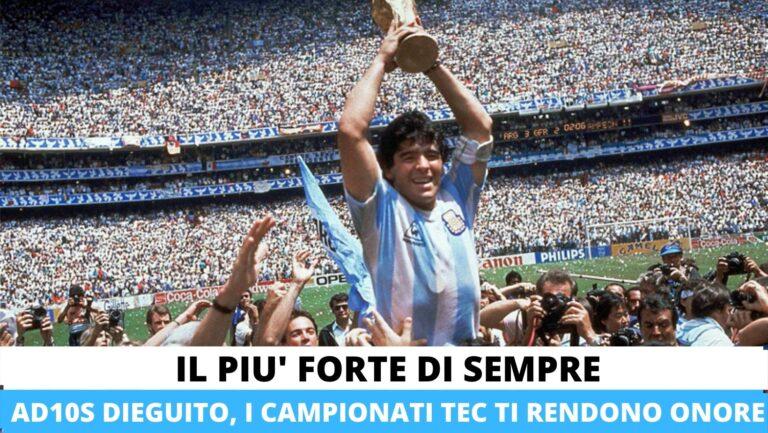 Un minuto di silenzio per Diego Armando Maradona