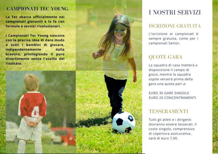 Nasce la Tec Young, da settembre spazio ai campionati giovanili