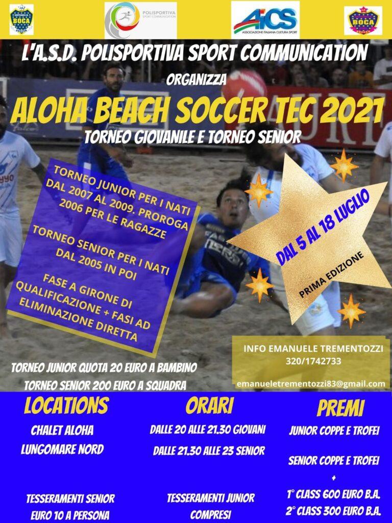 L'estate è da Beach Soccer da Aloha